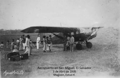 Aeropuerto en San Miguel, El Salvador