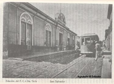 Estación del F.C. á Santa Tecla, San Salvador