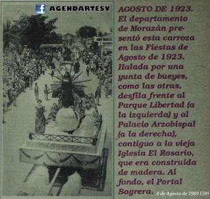 Fiestas de agosto, San Salvador, El Salvador 1923