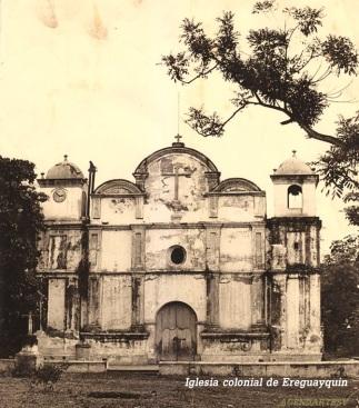Iglesia colonial de Ereguayquin, El Salvador