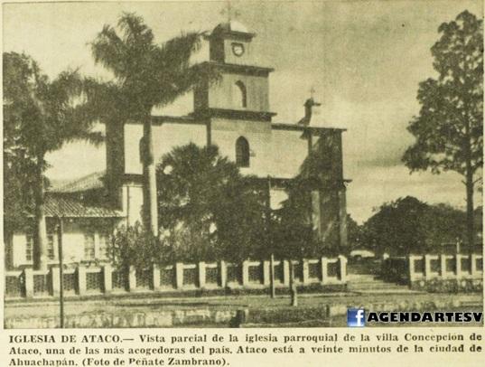 Iglesia de Ataco, 1965