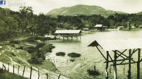 Lago de Ilopango en 1927