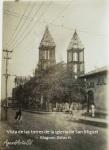 Vista de las torres de la iglesia de San Miguel, El Salvador