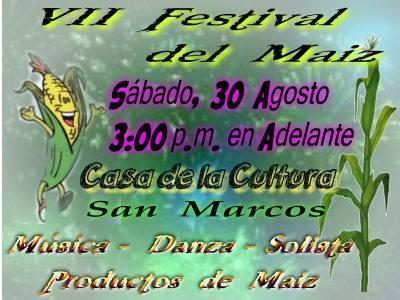 festival del maiz san marcos