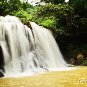 Cascada en el Rio Huiza, Huizucar, La Libertad, El Salvador