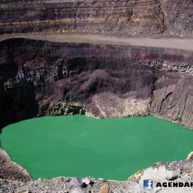 Crater volcan ILamatepec, El Salvador