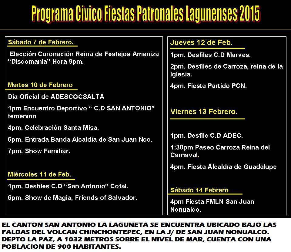 Fiestas Patronales San Antonio La Laguneta