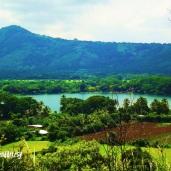 Panoramica de la Laguna de Apastepeque, Carretera a Santa Clara, San Vicente, El Salvador
