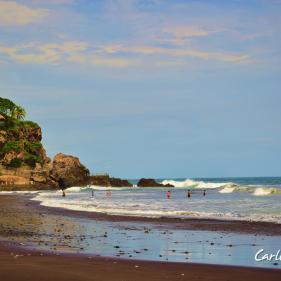 Playa El Palmarcito, Tamanique, La Libertad, El Salvador
