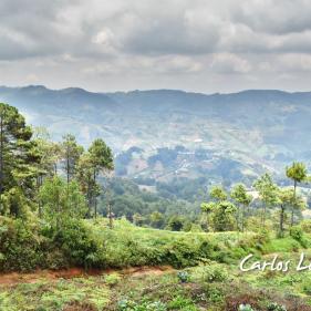 Vista panoramica desde Cerro El Burro, San Ignacio, Chalatenango, El Salvador