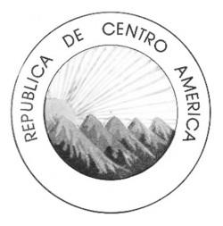 Anverso moneda plata republica de centro america