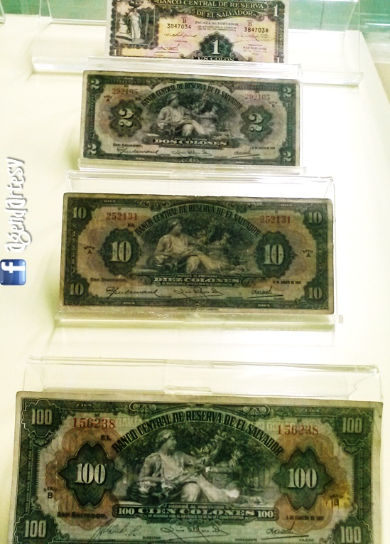 Papel moneda El Salvador, primeros billetes