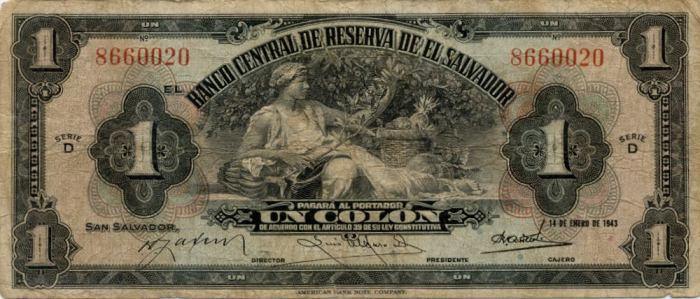 un colon 1943 El Salvador