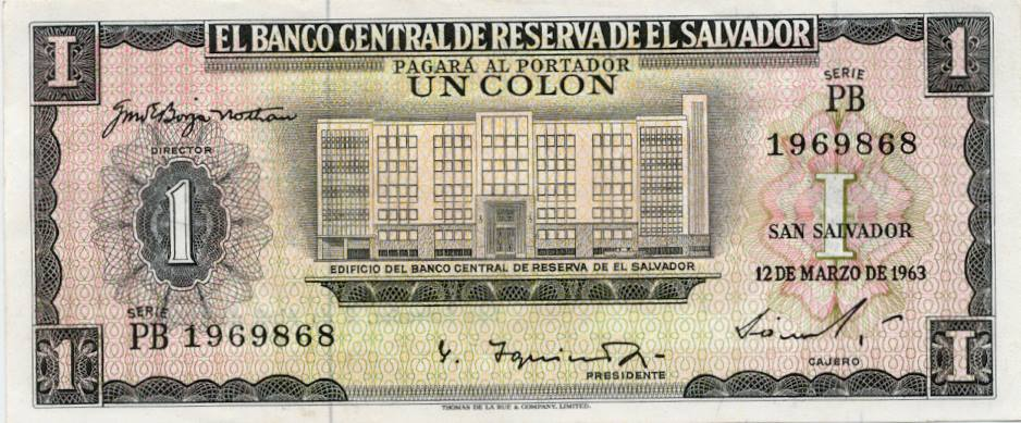 Un colon 1957 El Salvador - 2