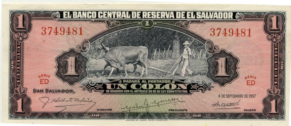 Un colon 1957 El Salvador