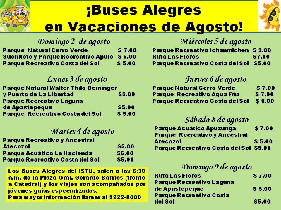 buses alegres agosto