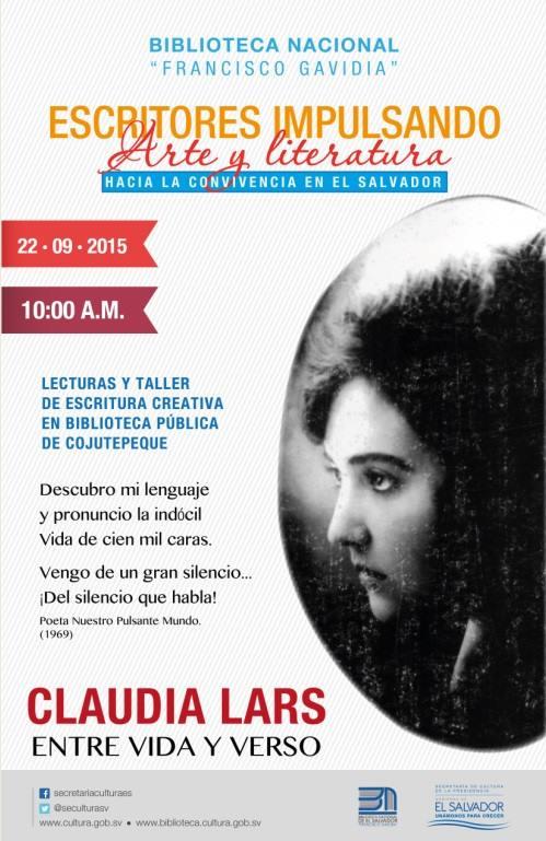 Claudia Lars Entre Vida Y Verso Agendarte El Salvador