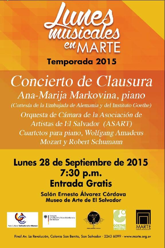 concierto clausura marija