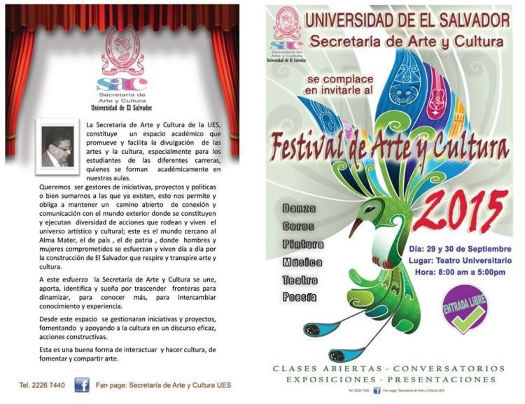 festival de arte y cultura ues 2