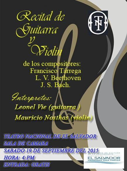 recital de guitarra y violin