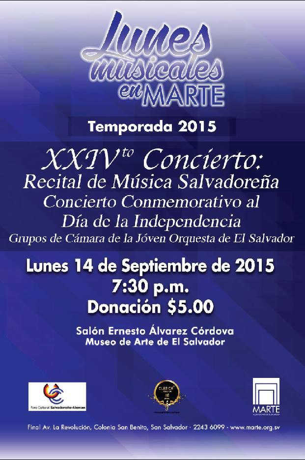 recital de musica salvadoreña