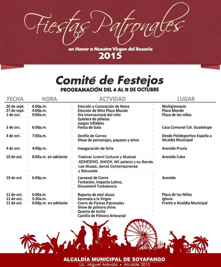 Fiestas patronales soyapango 2015