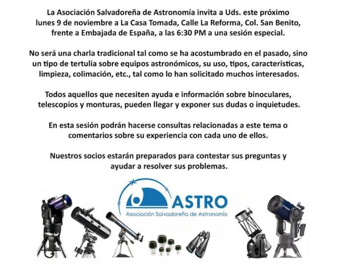 charla de astronomia