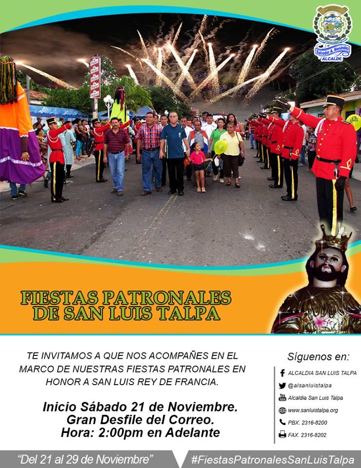 fiestas patronales de san luis talpa 2015