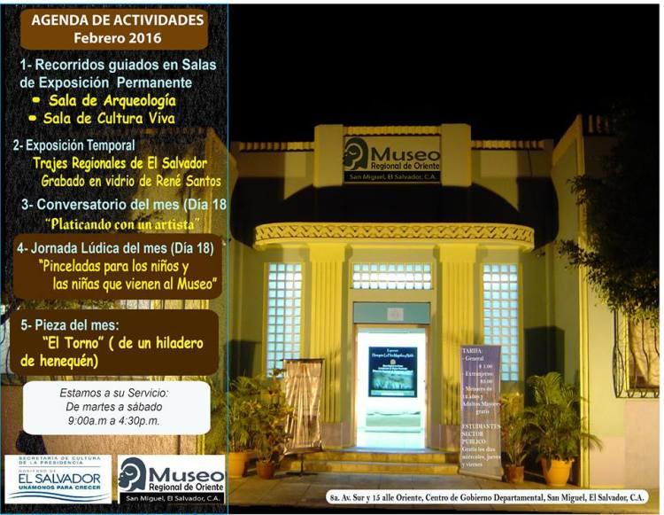 agenda museo oriente  febrero