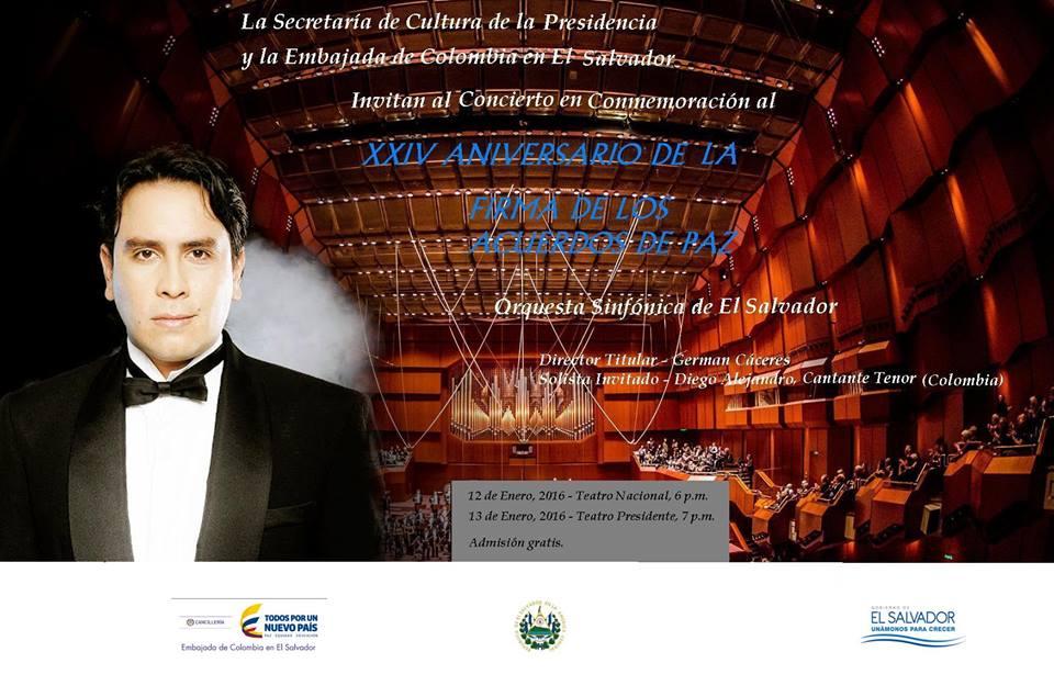Concierto en conmemoración del XXIV aniversario de la firma de los acuerdos de paz