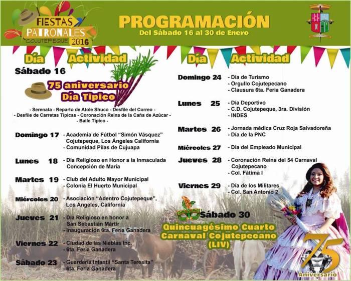Fiestas Patronales de Cojutepeque 2016