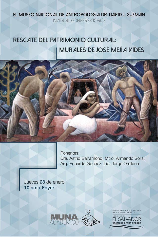 Rescate del Patrimonio Cultural Murales de José Vides
