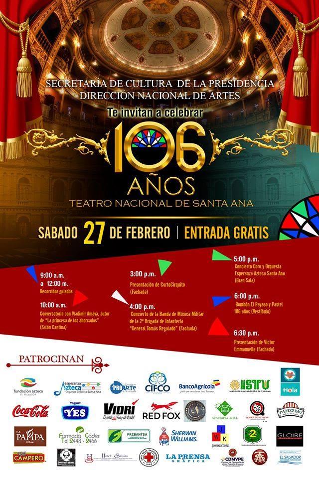 106 Aniversario del santa ana teatro