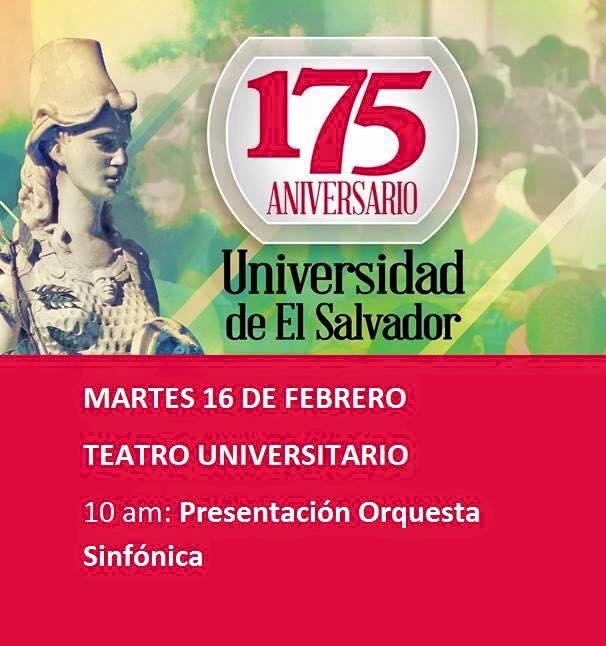 175 años de existencia de la Universidad de El Salvador
