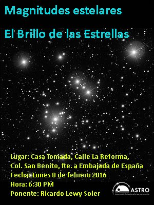 brillo de las estrellas