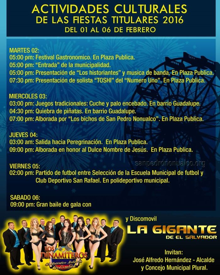 Fiestas Titulares San Pedro Nonualco