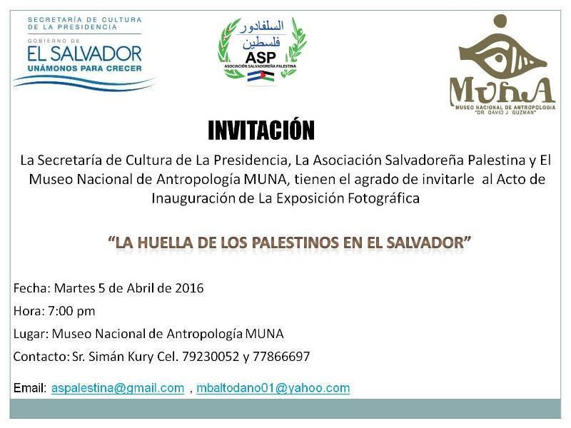 exposición fotográfica La huella de los palestinos en El Salvador