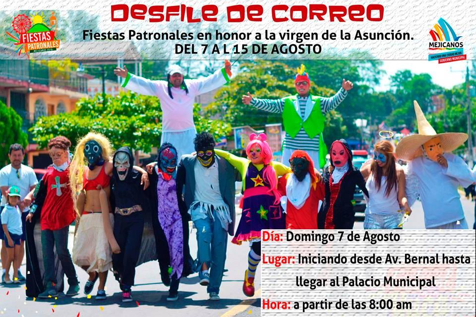desfile de correos mejicanos