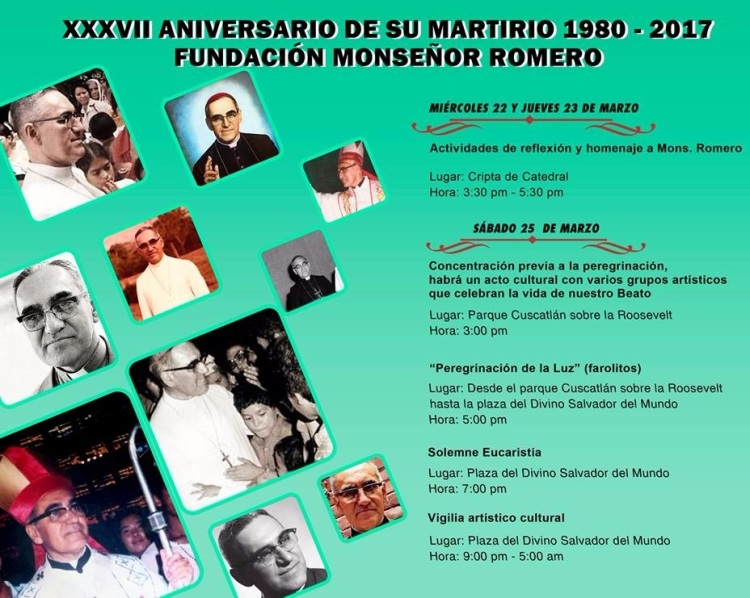37 aniversario martirio monseñor romero