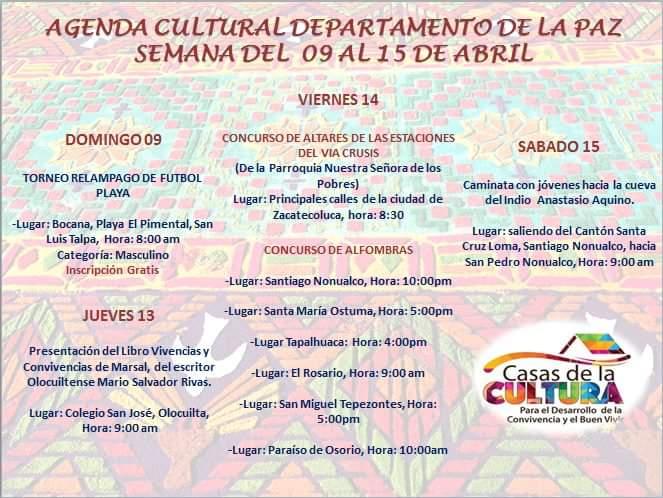 agenda cultural de la paz