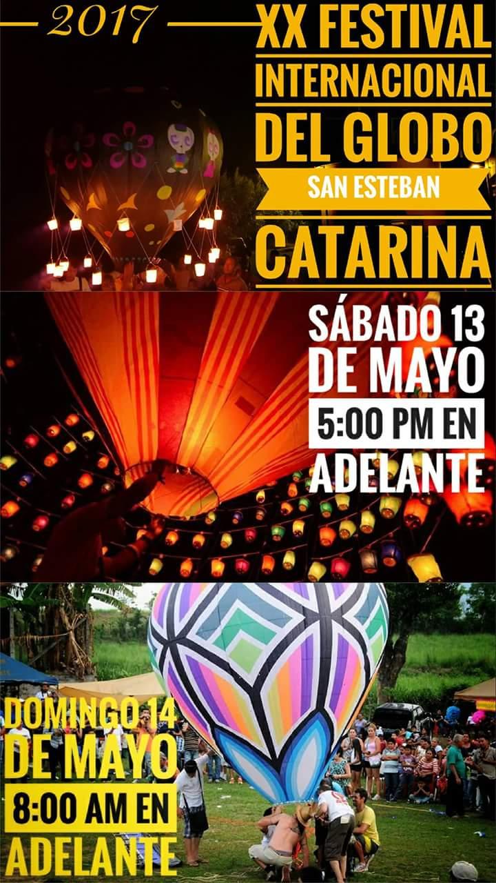festival del globo san esteban catarina