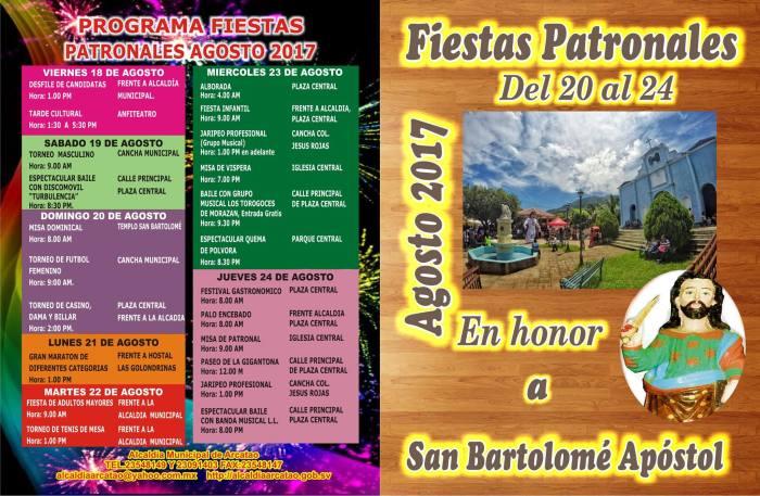 fiestas patronales de Arcatao 2017