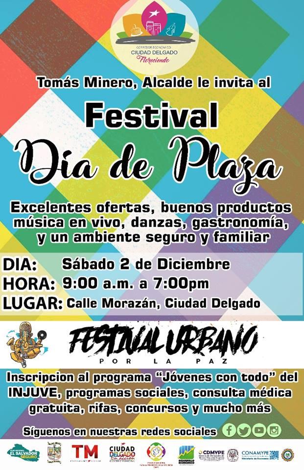 dia de plaza festival urbano ciudad delgado