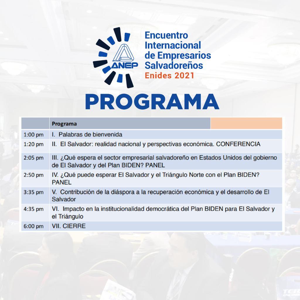 Programa del EVENTO ENIDES 2021